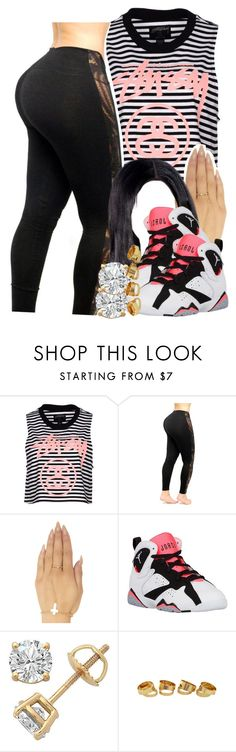 """""""empire state of mind -jay z + Alicia keys"""" by pretty-ambi ❤ liked on Polyvore featuring Stussy, Wet Seal and Retrò"""