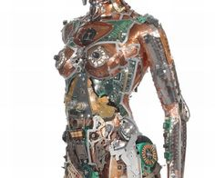 Gabriel Dishaw's Fembot is an amazing sculpture of a female robot made out of upcycled junk! The innovative junk artist and sculptor's passion for turning old metallic junk into an art work is purely the work of a keen imagination and a lot of focus. Metal Art, Sculpture Art, Artist At Work, Steampunk Art, Junk Art, Recycled Art, Sculpture, Art, Mosaic Art