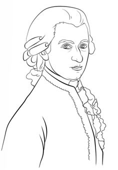 mozart coloring page