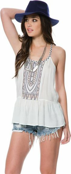 Gardner Embroidered Tank. http://www.swell.com/New-Arrivals-Womens/GARDNER-EMBROIDERED-TANK?cs=WH