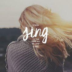I used to think that the 'feelings' that would well up within me during worship were because of the lyric being all about God, Jesus and his greatness. Bible Verses Quotes, Bible Scriptures, Bible Verses About Music, Godly Quotes, Biblical Verses, Christian Songs, Christian Quotes, Christian Women, Christian Living