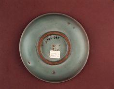 Longquan stoneware dish base. Yuan dynasty. British Museum.