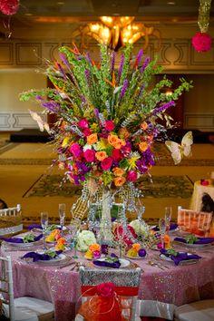 Elegant Mardi Gras Table Centerpieces Photos