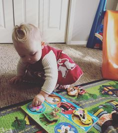 Our little Meredith loves puzzle time! :)