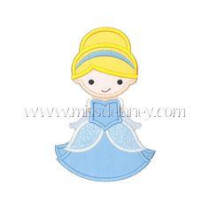 Cinderella 1 Applique Design by MissDelaneyShop on Etsy