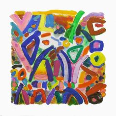 Gillian Ayres in Bath Painting Words, Paintings I Love, Pastel Paintings, Abstract Painters, Abstract Art, Graffiti, Collages, Feminist Art, Illustrations