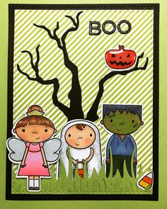 Simon Says Stamp Ghostly Greetings , so adorable I had to use all 3 !