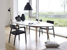 Table extensible ovale en stratifi gm 9944 by naver collection design niss - Table ovale extensible ...