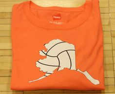 Screen Print Tshirt Volleyball in the State of Your Choice in the color you want