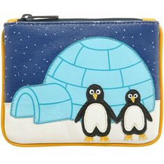 Harness Penguin Zip Top Applique Leather Coin Purse AW12 Autumn Winter 2012 - £12.00 available from www.kubi.co.uk - Perfect Christmas presents for your girlfriends mothers sisters teenage daughters teenagers friends or girlfriends this festive season.  Beautiful Penguins by igloo family home.