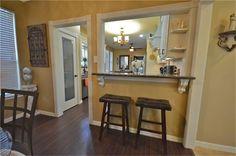farmhouse kitchen with pass through breakfast bar - Google Search