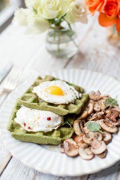 Gaufres aux épinards  manger sainement recette, menus équilibrés idee repas equilibre