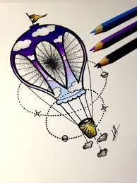 Image result for air balloon tattoo