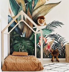 kid room , forest wallpaper