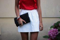 Waist Skirt, High Waisted Skirt, Fashion Forward, Blouse, My Style, Skirts, Etsy, Wedge Sandals, Pouch Bag