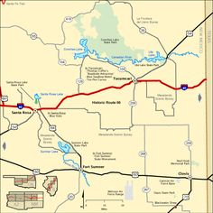 This shows route 66 and the towns along route 66. This is shown in the intercalary chapter 12.
