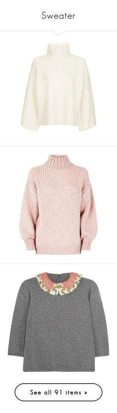 """Sweater"" by alina-chipchikova ❤ liked on Polyvore featuring tops, sweaters, topshop, pull, knit sweater, bell sleeve sweater, flared sleeve sweater, knit jumper, bell sleeve knit sweater and jumpers"