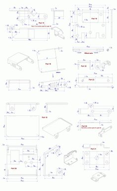 Sheet-metal truck models plans - Parts drawings 2