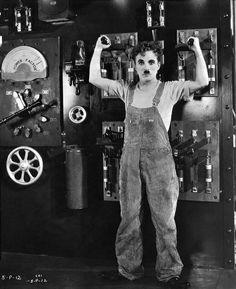 Charles Chaplin - Modern Times   I actually laugh out loud at his silent films!
