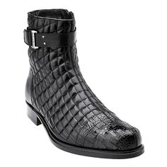 Belvedere presents these classy and uber-cool high-top boots in black that will surely impart a standout appeal to your ensembles. With a soft quilted leather and genuine alligator upper, they will be your long-lasting companion. Their flawless finish and unique design make them a must-have for every man out there!