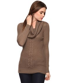 Cowl Neck Tunic Sweater | FOREVER21 - 2000036082
