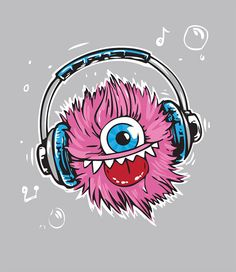 Cute Monster Character Free Vector