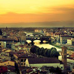 """Vista da San Miniato al Monte"" - Florence, Italy"