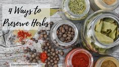 4 Ways to Preserve Herbs on the Homestead - 15 Acre Homestead Flavored Butter, Flavored Oils, Infused Oils, Homemade Butter, Butter Recipe, Preserve Herbs, Cold Pressed Oil, Herb Butter, Lemon Balm