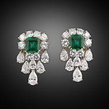 Sin contraste Esmeralda y Diamante Pendientes
