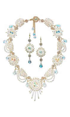 Jewelry Design - Single-Strand Necklace and Earring Set with Swarovski Crystal Beads and Components and Seed Beads - Fire Mountain Gems and Beads