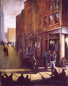 Norman Teeling | On View - Art Gallery - The 1916 Rising/Pearse Surrenders Dublin, Norman, Ireland, Art Gallery, Painting, Art Museum, Painting Art, Paintings, Irish