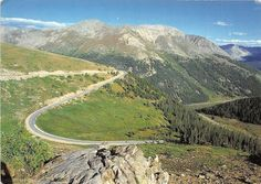 Switchbacks on Independence Pass between Aspen & Twin Lakes Colorado Postcard