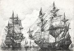 Dutch ships at anchor by ~JanBoruta