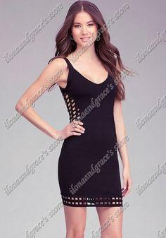 LUXURY HOLLOW OUT BANDAGE DRESS FREE SHIPPING V-NECK new  Chic Hollow Grid Bandage Dress $75.00