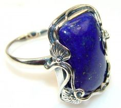 Fantastic Lapis Lazuli Sterling Silver Ring s. 7