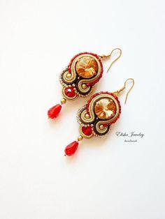 Earrings Glafira от ElishaBoutique на Etsy