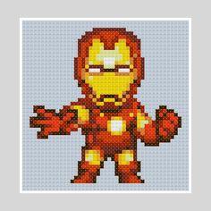 Iron Man pattern by PDFcrossstitch