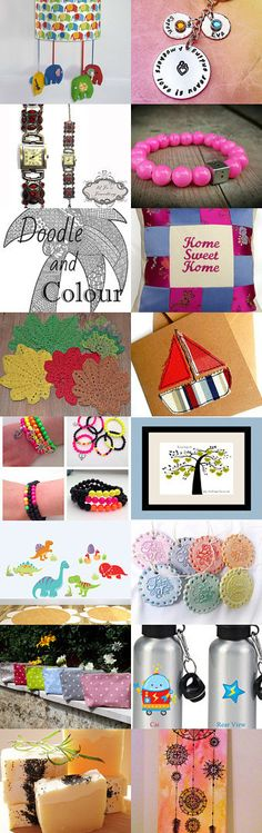 Colorful and cheerful  by Karolina Szopa on Etsy--Pinned with TreasuryPin.com