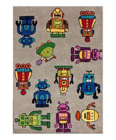 Look what I found on #zulily! Gray Robotix Wool Rug by kinderLOOM #zulilyfinds
