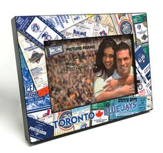 Toronto Blue Jays Ticket Collage Wooden 4x6 inch Picture Frame - Officially Licensed by MLB