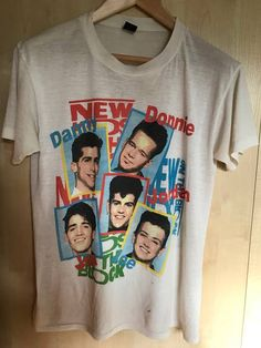 0a876bf0 1989 New Kids On The Block Vintage Single Stitch Band Tee Vintage Band  Tees, Vintage