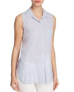 BeachLunchLounge Ava Striped Sleeveless Shirt