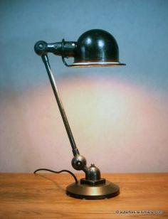 lampe de bureau industrielle ancienne