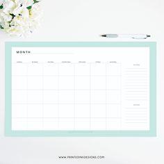 Mint desk calendar from Intentionally Designed.