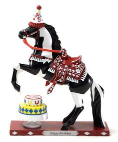 Take a look at this Happy Birthday Horse Figurine by The Trail of Painted Ponies on #zulily today!