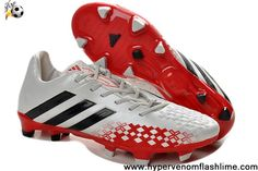 new product f945b fe3ac Cheap Soccer Shoes 2013 Adidas Predator Lethal Zones Cleats 2013 For David  Beckhams Retirement Game - White Black Red