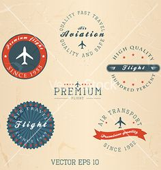 Retro badges and labels vector by darko1981 on VectorStock®