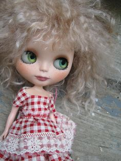 RESERVED  On Layaway  OOAK Custom Blythe Doll With by cindysowers, $100.00