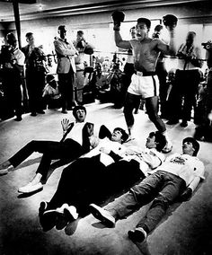 The Beatles with Cassius Clay.
