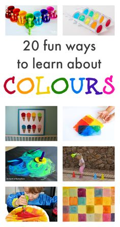 colour activities, color activities for preschool and toddlers, color crafts, learning about colors, color theme Preschool Color Theme, Preschool Themes, Preschool Art, Preschool Lessons, Color Activities For Toddlers, Infant Activities, Colour Activities Preschool, Fun Learning, Learning Activities